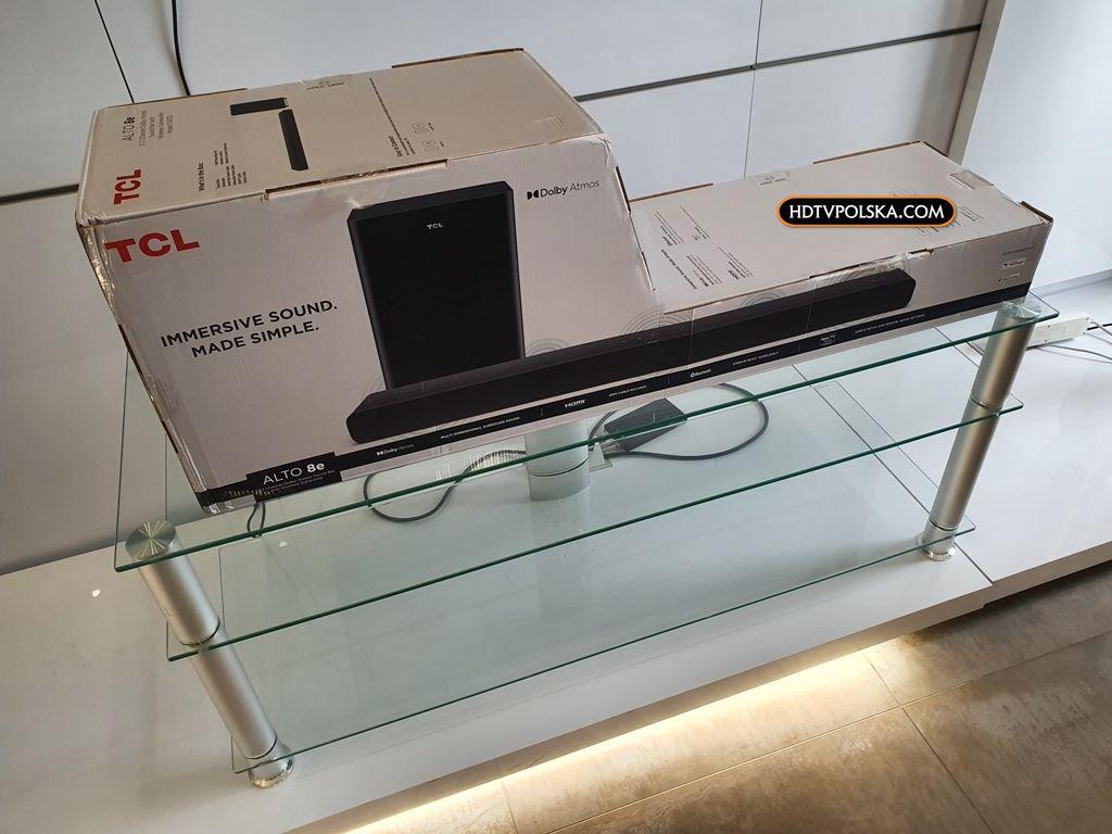Test soundbar TCL Alto 8e TS8132 pudło