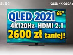 samsung qled q80a telewizor 65 cali promocja neonet sierpień 2021 okładka