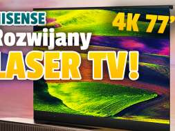 Hisense rozwijany telewizor Laser TV 2021 okładka