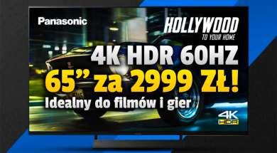 panasonic hx810 telewizor 4k hdr 65 cali promocja media expert wrzesień 2021 okładka