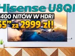 telewizor Hisense U8QF 55 cali promocja Media Expert promocja wrzesień 2021 okładka