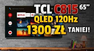 telewizor TCL QLED C815 65 cali promocja Media Expert wrzesień 2021 okładka