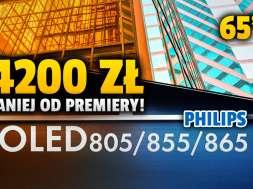 Philips OLED855 65 cali telewizor promocja RTV Euro AGD październik 2021 okładka