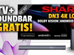 Sharp DN telewizory 4K LCD soundbar gratis promocja Media Expert październik 2021 okładkajpg