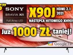 Sony X90J telewizor 55 cali 2021 promocja RTV Euro AGD październik 2021 okładka 2