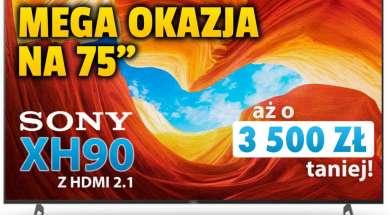 Sony telewizor 4K XH9005 75 promocja Media Expert październik 2021 okładka