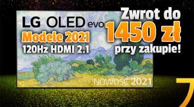 lg oled telewizory 2021 50 zł za wydane 500 promocja media expert październik 2021 okładka