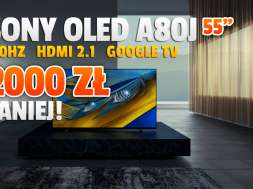 sony oled a80j 55 cali telewizor 4k 2021 promocja rtv euro agd październik 2021 okładka