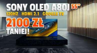 telewizor sony oled a80j 55 cali promocja rtv euro agd październik 2021 okładka 2