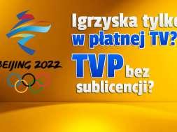 zimowe igrzyska olimpijskie pekin 2022 transmisje tvp discovery eurosport okładka