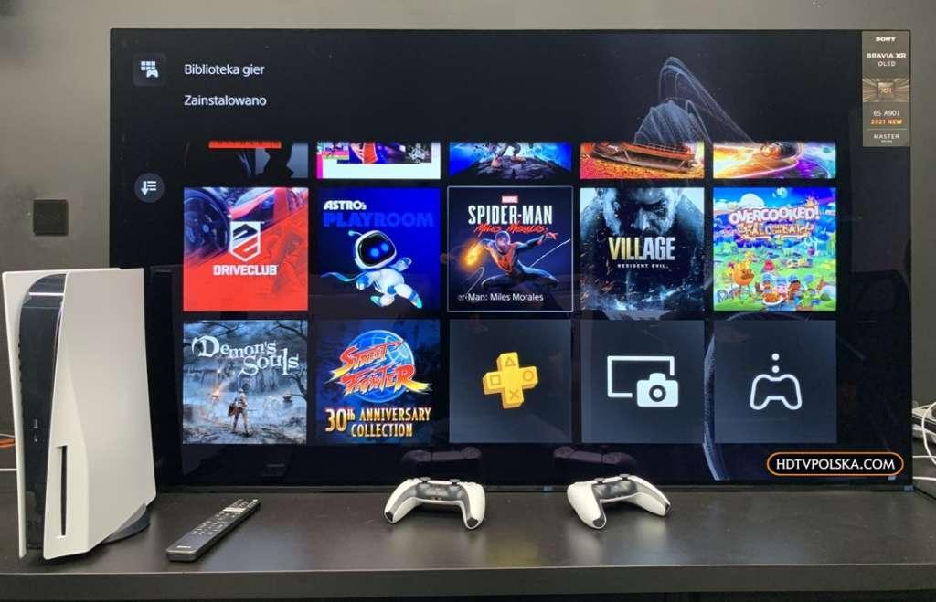 Zapowiedź otwieramy test Sony BRAVIA XR OLED A90J działanie z PS5 2