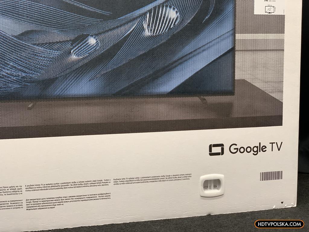 Test Sony BRAVIA XR A80J OLED Google TV karton 1