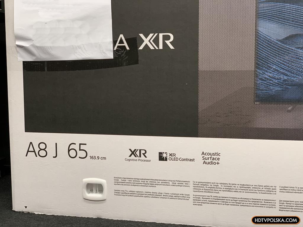 Test Sony BRAVIA XR A80J OLED Google TV karton 2