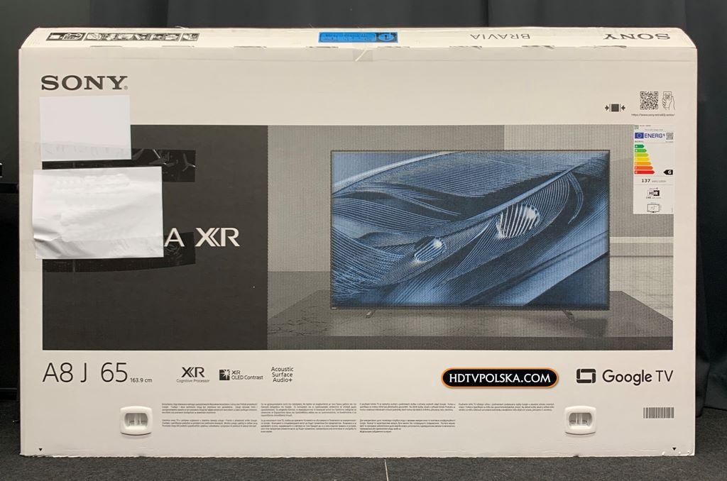 Test Sony BRAVIA XR A80J OLED Google TV karton