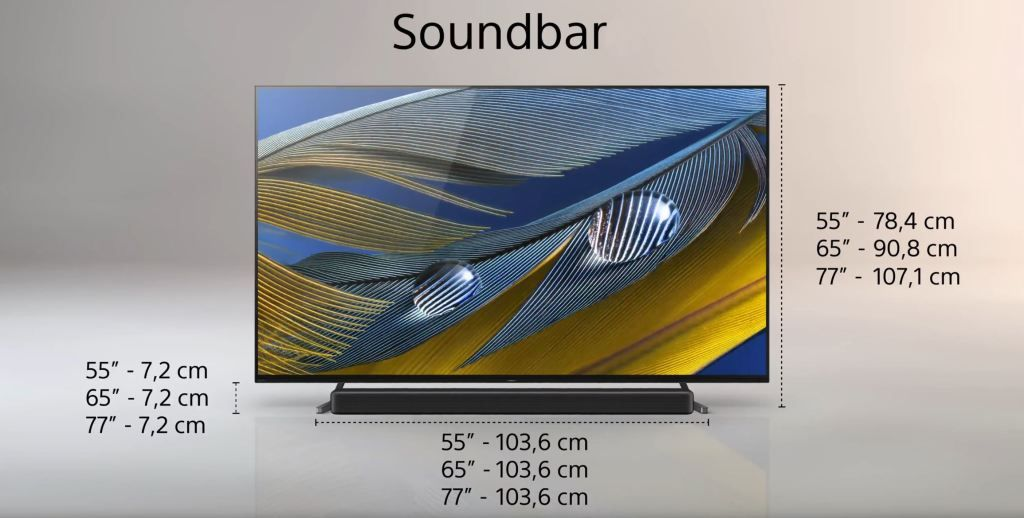 Test Sony BRAVIA XR A80J OLED Google TV podstawa pod soundbar