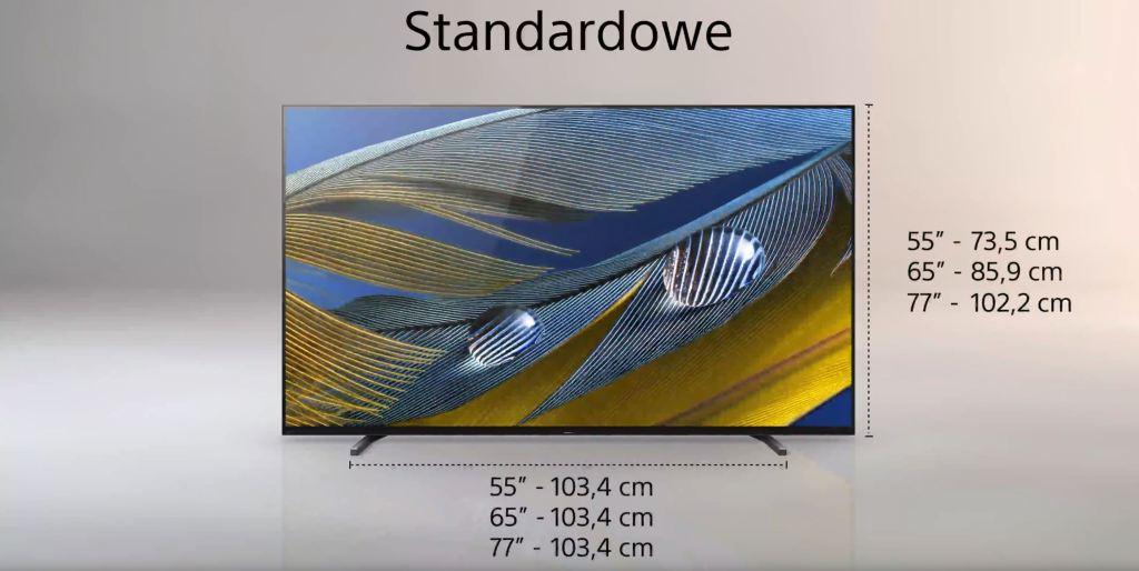 Test Sony BRAVIA XR A80J OLED Google TV podstawa standardowa