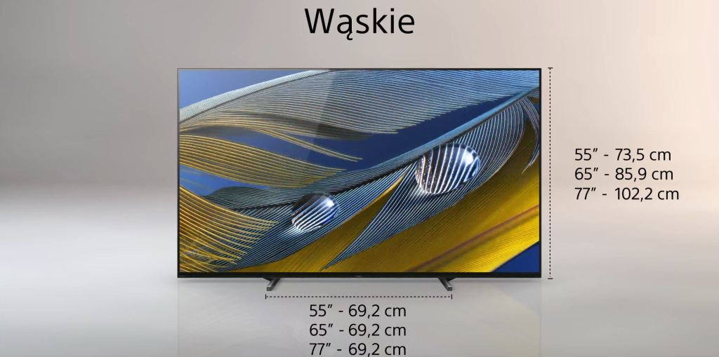 Test Sony BRAVIA XR A80J OLED Google TV podstawa wąska