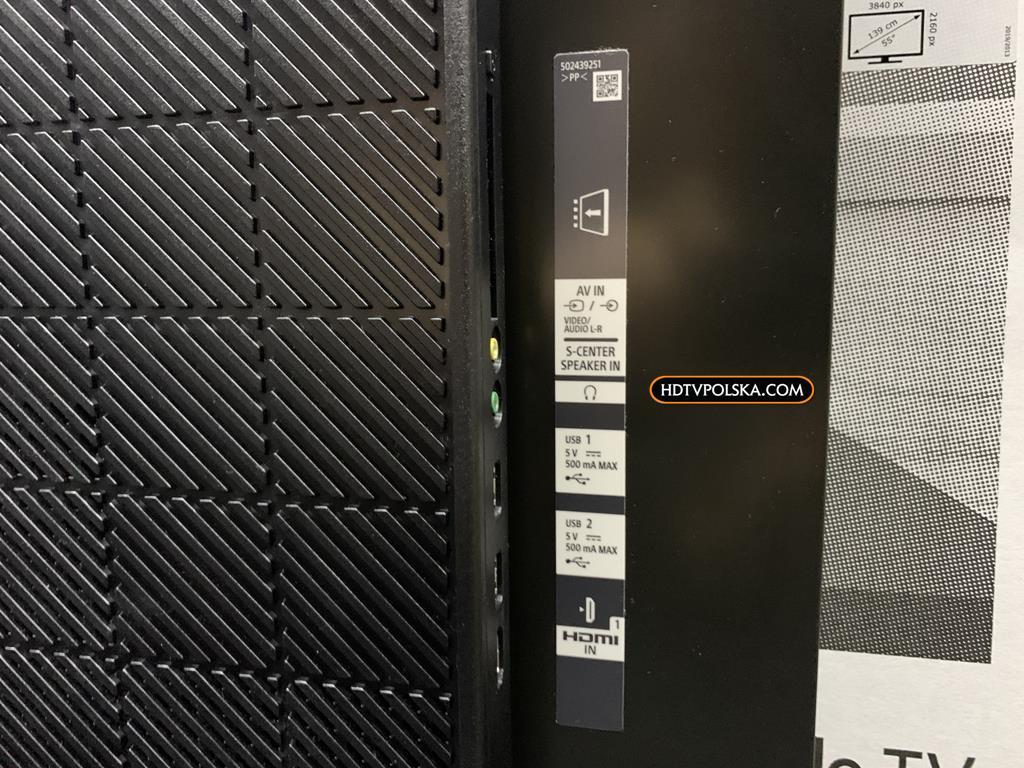 Test Sony BRAVIA XR A80J OLED Google TV porty